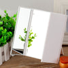 Image of Led Lighted Vanity Mirror Make Up Tri-Fold 8 Led Lights Touch Screen Stand | Edlpe