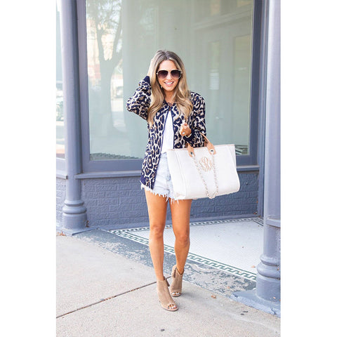 women fashion jacket Leopard coat