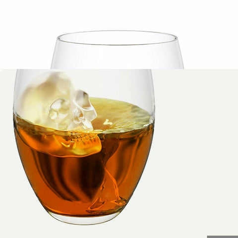 Whiskey Silicon Ice Cube Maker Mold Mould 3D Skull Brick Halloween Party Tray | Edlpe