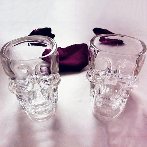 3D Crystal Skull Pirate Shot Glass Drink Cocktail Beer Cup Party Club Halloween | Edlpe