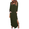 Image of Women Pocket Maxi Dress Ladies Split Loose Summer Long Beach Dress | Edlpe