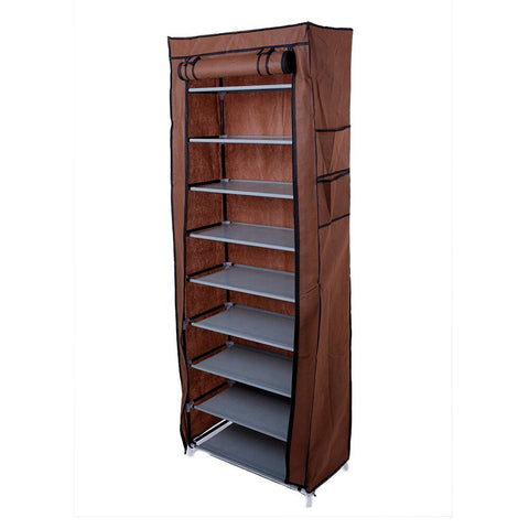 10-Layers 9 Lattices Non-woven Fabric Shoe Rack Dustproof Shoes Organizer Home Bedroom Shoe Racks Shelf Cabinet
