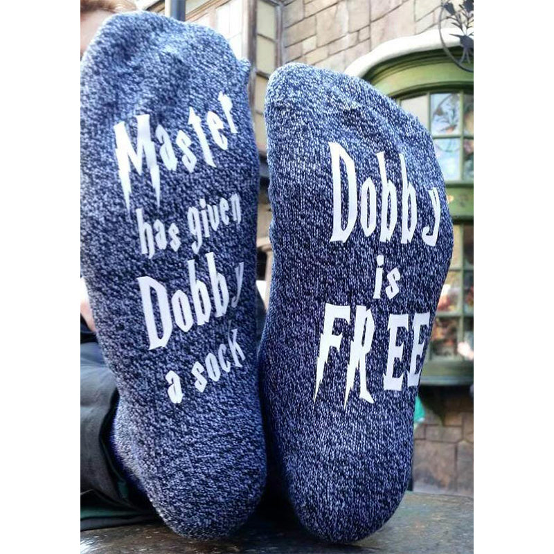 "Unisex Women Mens ""Dobby Is Free"" Funny Cotton Ankle Socks Casual Gift"