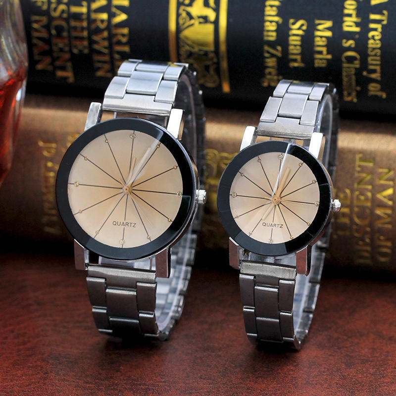 Fashion Retro Couple Watch Stainless Steel Men Women Quartz Analog Wrist Watches | Edlpe