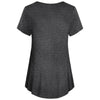 Image of Pure Color Round Neck Breastfeeding Short Sleeves Maternity A Line T-Shirt Top | Edlpe