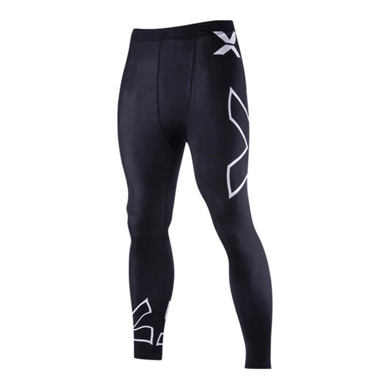 Mens Sports Gym Skin Tights Compression Base Under Layer Long Fitness Pants | Edlpe