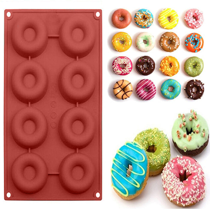 Dessert Chocolate Mini Silicone Donut Mould Doughnut Molds Baking Pan Round Shaped | Edlpe