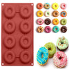 Image of Dessert Chocolate Mini Silicone Donut Mould Doughnut Molds Baking Pan Round Shaped | Edlpe