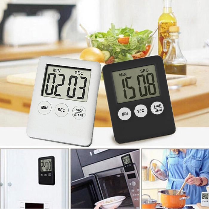 Lcd Magnetic Square Cooking Kitchen Time Multifunctional Coutdown Digital Timer Alarm Clock Tools | Edlpe
