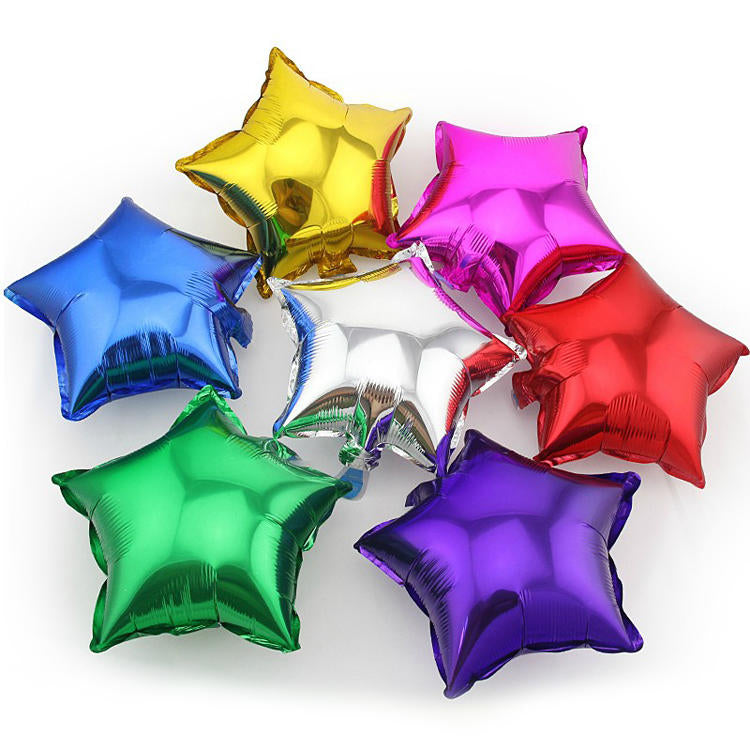Five-Point Star Heart Toy Inflatable Aluminum Foil Balloons For Wedding Birthday Party | Edlpe