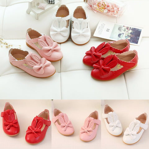 Girls Rabbit Sandals Princess Bowknot Toddl