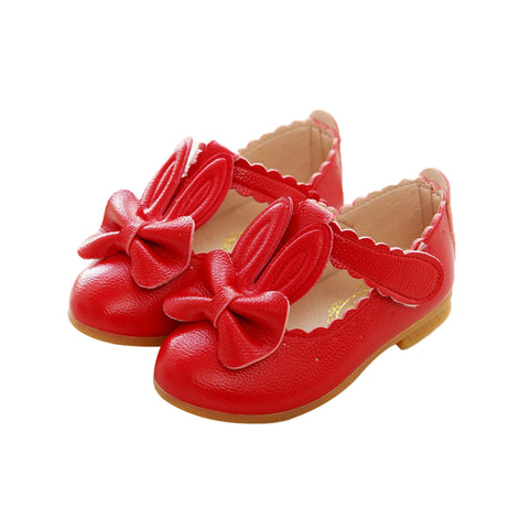 Girls Rabbit Sandals Princess Bowknot Toddler Kids Flower Soft Sole Shoes | Edlpe