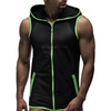 Image of Mens Sleeveless Hoodie Sports Fitness Gym Vest Sweatshirt Zip Up Tank Tops Size | Edlpe