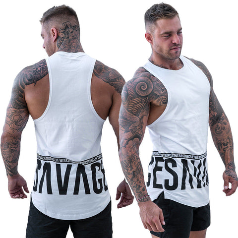 Mens Muscle Vest Fitness Bodybuilding Sleeveless Gym Tank Top Vest Casual Sport T-Shirts | Edlpe