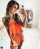 Image of Womens Boho Strapless Jumpsuit Mini Playsuit Ladies Tops Summer Beach Shorts Sundress | Edlpe