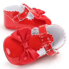 Baby Girls Kid Toddler T Bar Bowknot Flats Summer Birthday Party Pram Crib Shoes