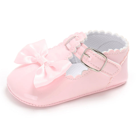 Baby Girls Kid Toddler T Bar Bowknot Flats Summer Birthday Party Pram Crib Shoes | Edlpe