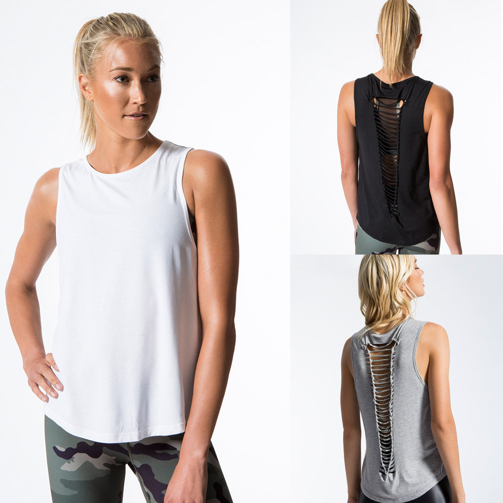 Women Sleeveless Blouse T Shirt Summer Beach Sport Gym Casual Vest Tops | Edlpe