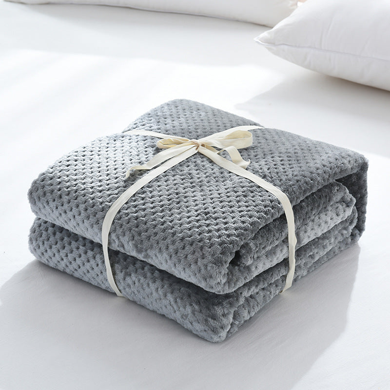 5 Colors Soft Warm Solid Micro Plush Fleece Blanket Throw Rug Sofa Bedding Baby Blanket Queen King | Edlpe