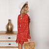 Image of Women Floral Mini Dress Bell Long Sleeve Ruffle Summer Beach Holiday Dress | Edlpe