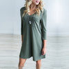 Image of Women Sexy V Neck Backless Long Sleeve Pocket Causal Mini Dress | Edlpe