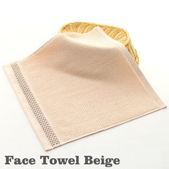 Cotton Face Bath Towel Set Hand Towels Wash Cloths Soft Bath Sheets Bathroom Swimming Beach Towels