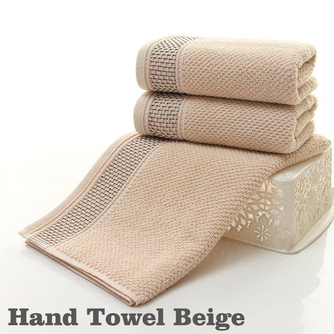 Cotton Face Bath Towel Set Hand Towels Wash Cloths Soft Bath Sheets Bathroom Swimming Beach Towels | Edlpe