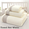 Image of Cotton Face Bath Towel Set Hand Towels Wash Cloths Soft Bath Sheets Bathroom Swimming Beach Towels | Edlpe