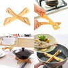 Image of Multifunctional Kitchen Health Bamboo Storage Placemat Pot Pan Holder Pad Kitchen Supplies | Edlpe