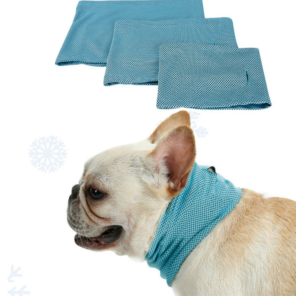 Summer Pet Puppy Dog Cool Triangle Bibs Neck Scarfs For Polyester Fiber Pet Supplies | Edlpe