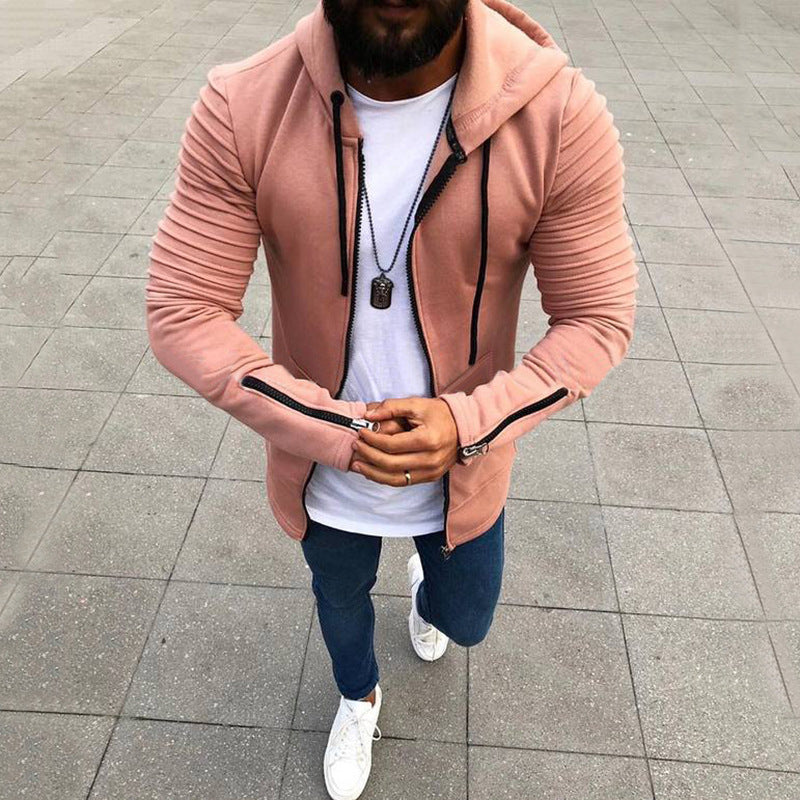 Fashion Mens Long Sleeve Hoodie Zip Up Solid Casual Jacket Coat Plus Size L-3Xl | Edlpe