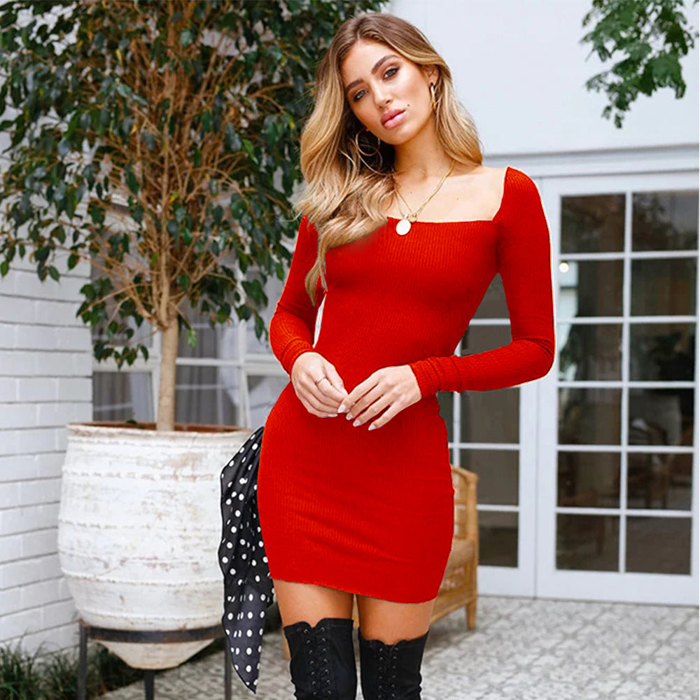 Women Long Sleeve Mini Dress Ladies Bodycon Party Club Clubwear Pencil Dress | Edlpe