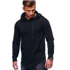 Fashion Mens Long Sleeve Hoodies Hooded Sweatshirt Solid Hoodie Pullover Sweater Plus Size Coat