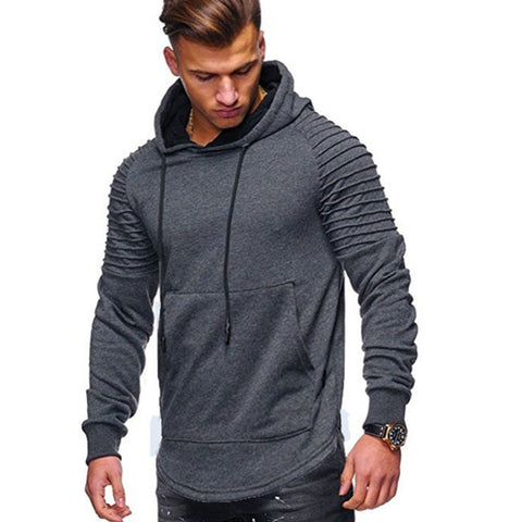 Fashion Mens Long Sleeve Hoodies Hooded Sweatshirt Solid Hoodie Pullover Sweater Plus Size Coat | Edlpe