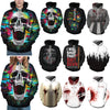 Image of Women Men Cool Creative 3D Print Halloween Hoodie Unisex Scary Printed Sweatshirt Hoody | Edlpe