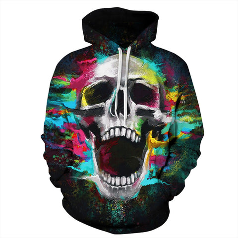 Women Men Cool Creative 3D Print Halloween Hoodie Unisex Scary Printed Sweatshirt Hoody | Edlpe