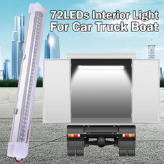 35Cm/13.5 Car Interior Led Light Bar 5W 72 Led Lamp With On/off Switch Van Lorry Truck Camper Boat | Edlpe