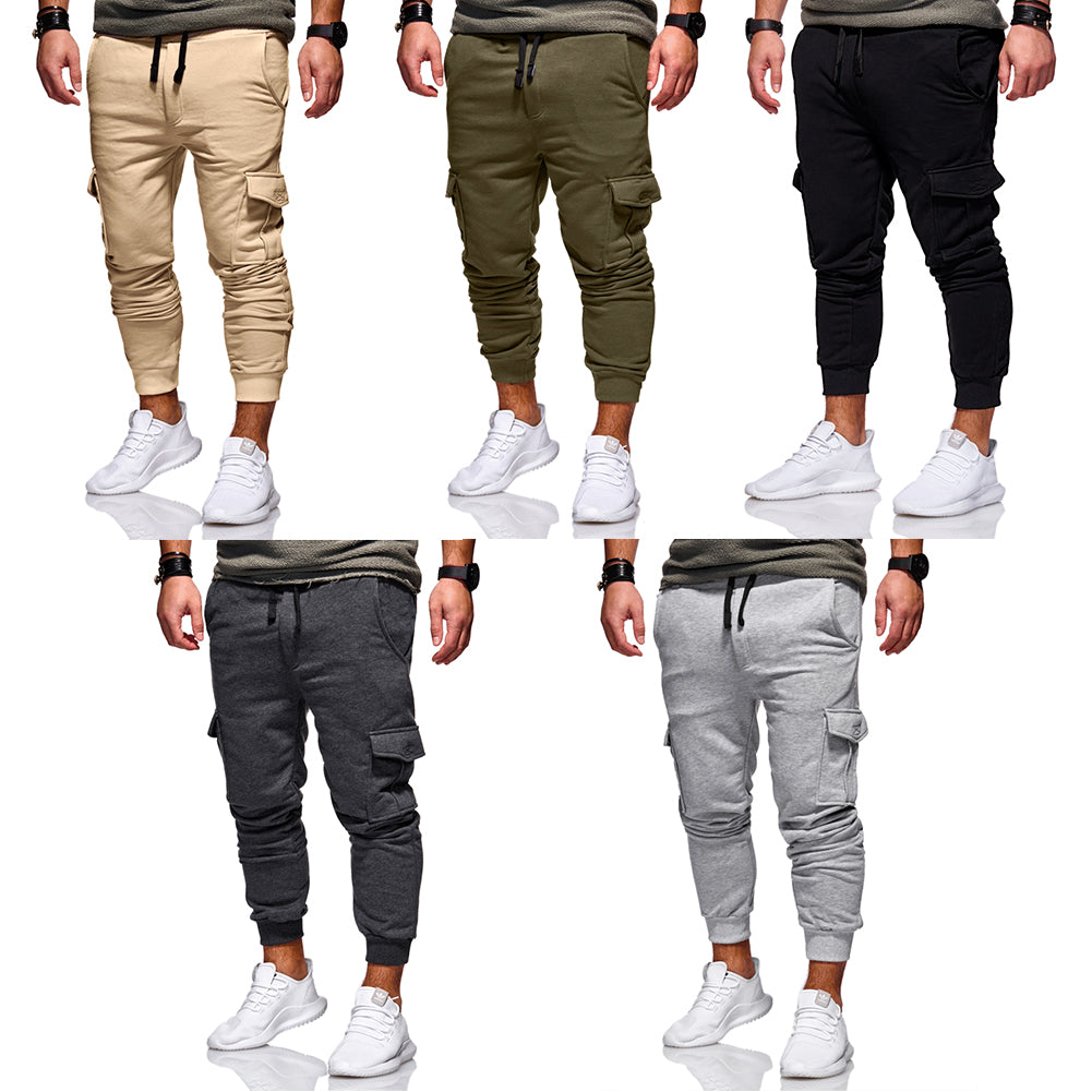 Fashion Mens Sport Gym Trousers Tracksuit Bottoms Solid Color Slim Fit Casual Long Pants | Edlpe