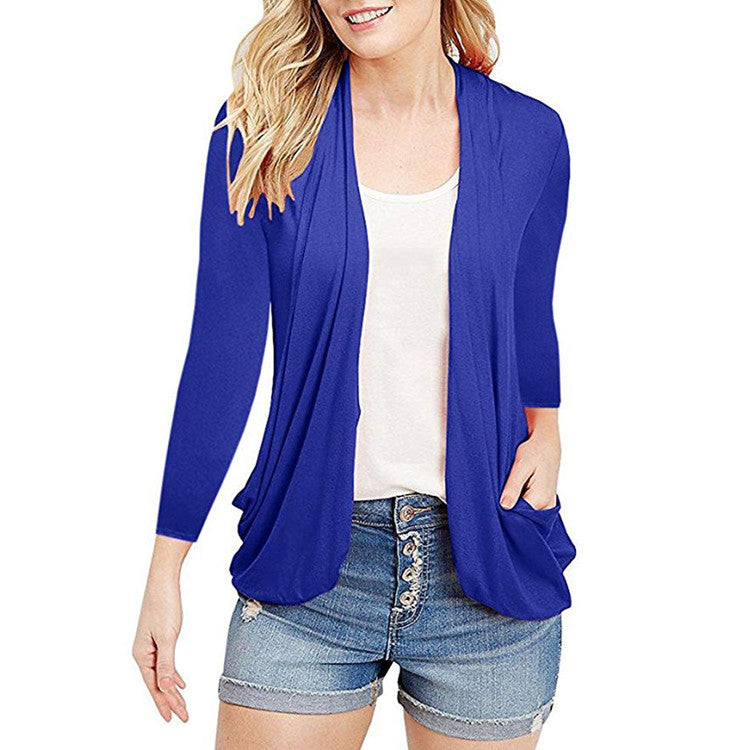 Women Long Sleeve Cardigan Coat Ladies Casual Loose Jacket Outwear | Edlpe
