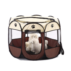 Pet Dog Cat Cag Tent House Playpen Puppy Kennel Easy Operation Octagonal Fence Outdoor Supplies | Edlpe