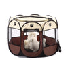 Image of Pet Dog Cat Cag Tent House Playpen Puppy Kennel Easy Operation Octagonal Fence Outdoor Supplies | Edlpe