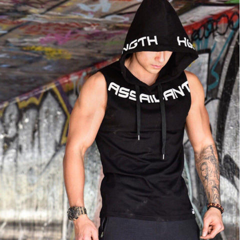 Summer Mens Sleeveless Vest Tank Top Hoodie Muscle Bodybuilding Gym T-Shirt Asian Size L-2Xl | Edlpe