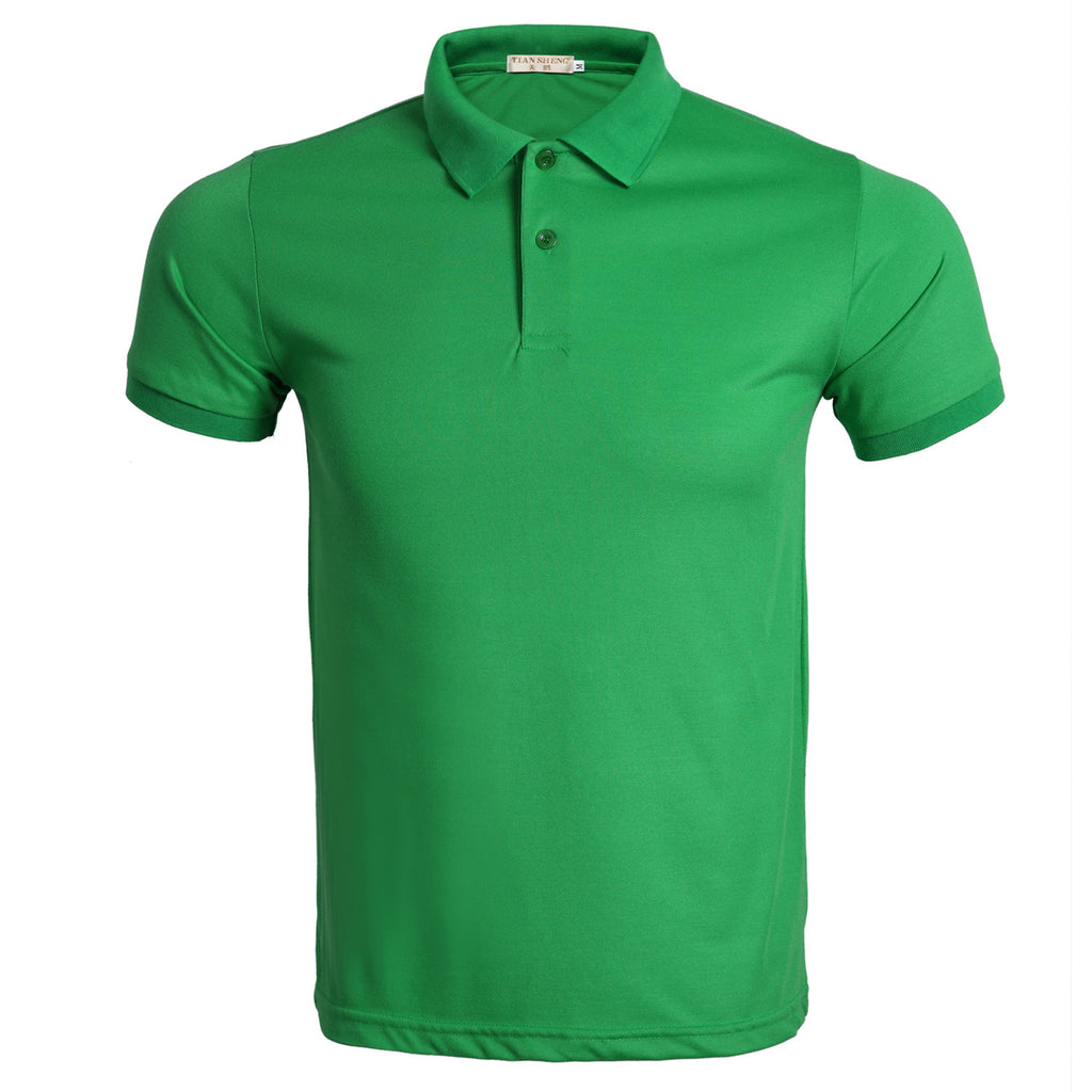 10 Colors Mens Short Sleeve Plain Polo Shirt Slim Fit T-Shirt Business Casual T-Shirt Tops | Edlpe