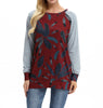 Image of Women Long Sleeve Floral Print Vintage Casual Blouse Tops Loose T Shirt Pullover | Edlpe