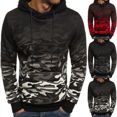 Mens Camouflage Hoodie Slim Fit Long Sleeve Hooded Sweatshirt Casual Outwear Jumper Tops | Edlpe