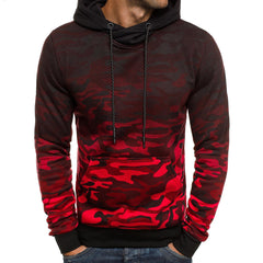 Mens Camouflage Hoodie Slim Fit Long Sleeve Hooded Sweatshirt Casual Outwear Jumper Tops