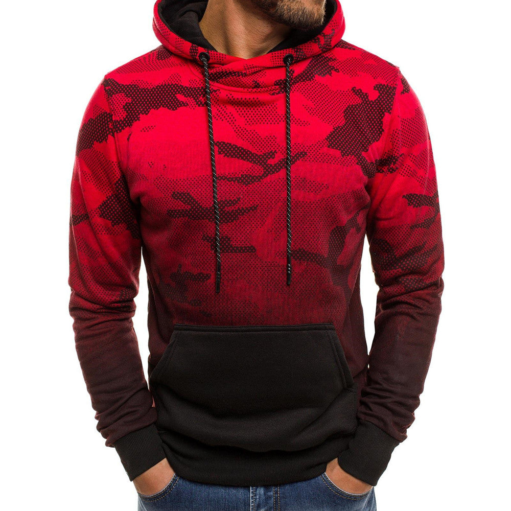 Mens Long Sleeve Jumper Camouflage Slim Fit Hoodie Autumn Casual Tops Fashion Outwear | Edlpe