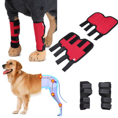 Pet Knee Pads Dog Support Brace For Hind Leg Hock Joint Wrap Acl/ccl Breathable Injury Recover Legs | Edlpe