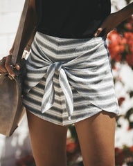 Sexy Women Fashion Striped Shorts Lace Up Summer Casual Party Short Pants Shorts