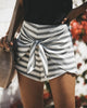 Image of Sexy Women Fashion Striped Shorts Lace Up Summer Casual Party Short Pants Shorts | Edlpe